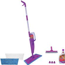 Click n Clean Multi-Surface Mop Kit: 3 Adapters, 1 Grout Brush, 2 Pads, & 1 All Floors Cleaner