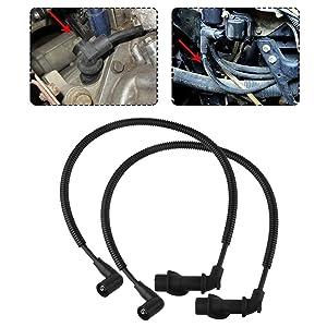 2 Pcs Ignition Coil Spark Plug Wire Cap for Polaris Sportsman Ranger 700 800 Crew RZR 800 Replace 4