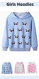 girls hoodied sweatshirts pullover hoodies
