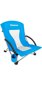 Low Sling Beach Backpack Folding Chair