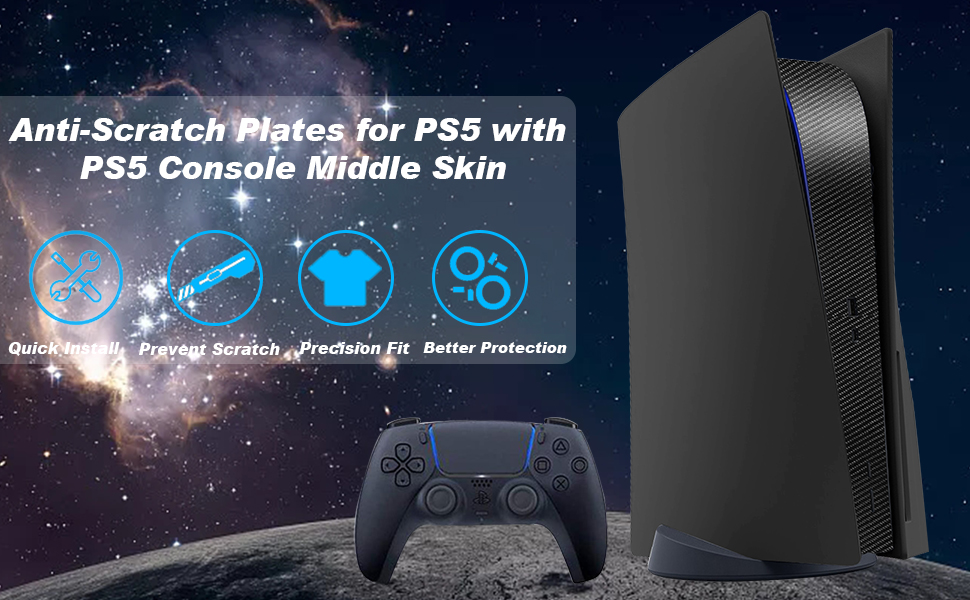 PS5 plates  PS5 faceplates with PS5 Console Middle Skin Sticker