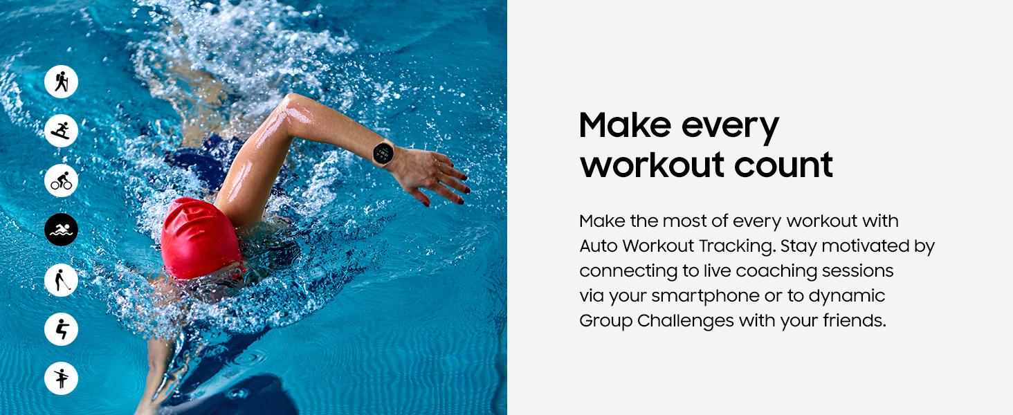 Galaxy Watch4 Fitness Auto Workout Tracking
