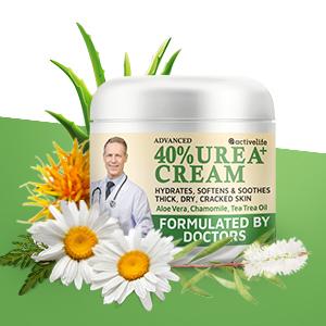 Urea Cream Formulated by Doctors Callus Remover Moisturizes Body