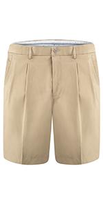mens pleated shorts