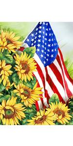 Sunflowers Fall Home Decorative Garden Flag