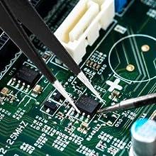 ESD Electronics Anti Static Anti-static Tweezers for Crafts DIY Hobby Model Repairing Lab Soldering