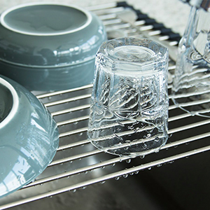 rolling dish rack over sink