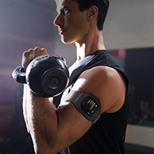 a man wears ActionSleeve during a crossfit workout