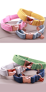 cotton dog collar
