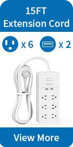Surge protector with long cord