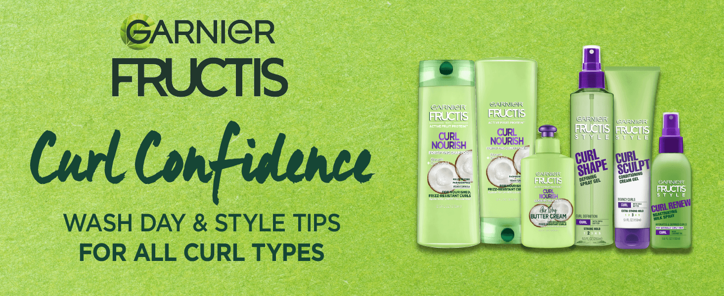 garnier fructis curl confidence wash day and style tips for all curl types