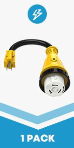 15Amp Male to 500Amp Female Adapter