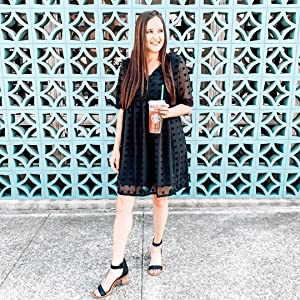 Women's Fashion Pom Poms Sheer Sleeve Dress