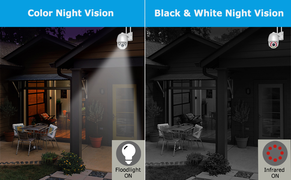 wifi camera outdoor with Color night vision