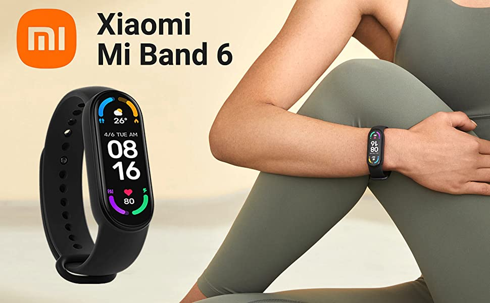 Xiaomi Mi Smart Band 6 All New 2021 Edition English, Spanish Language
