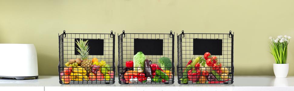 hanging fruit baskets for kitchen