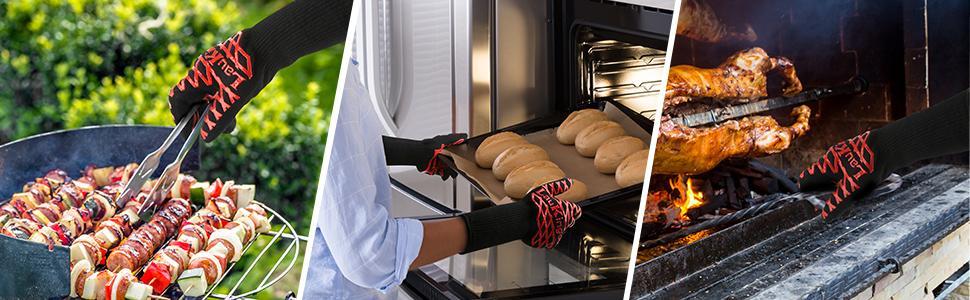 Kitchen grill gloves