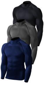 Mock Long Sleeve Compression Shirt