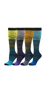 stripes compression socks