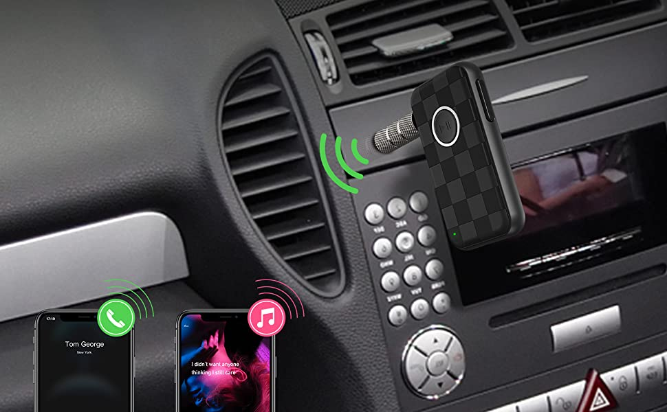 Bluetooth 5.0 Car Kits Music Adapter Wireless