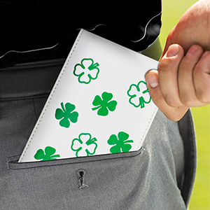 7.25 x 4.5 inches.Easily to put into your pocket or fit inside your golf bag.