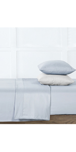 6-Grey Fresh Protect Silver-Infused Cotton 6-Piece Sheet Set