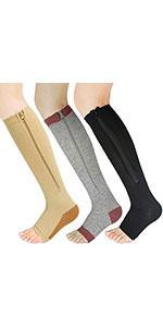 Support Stockings Easy on Knee High Socks