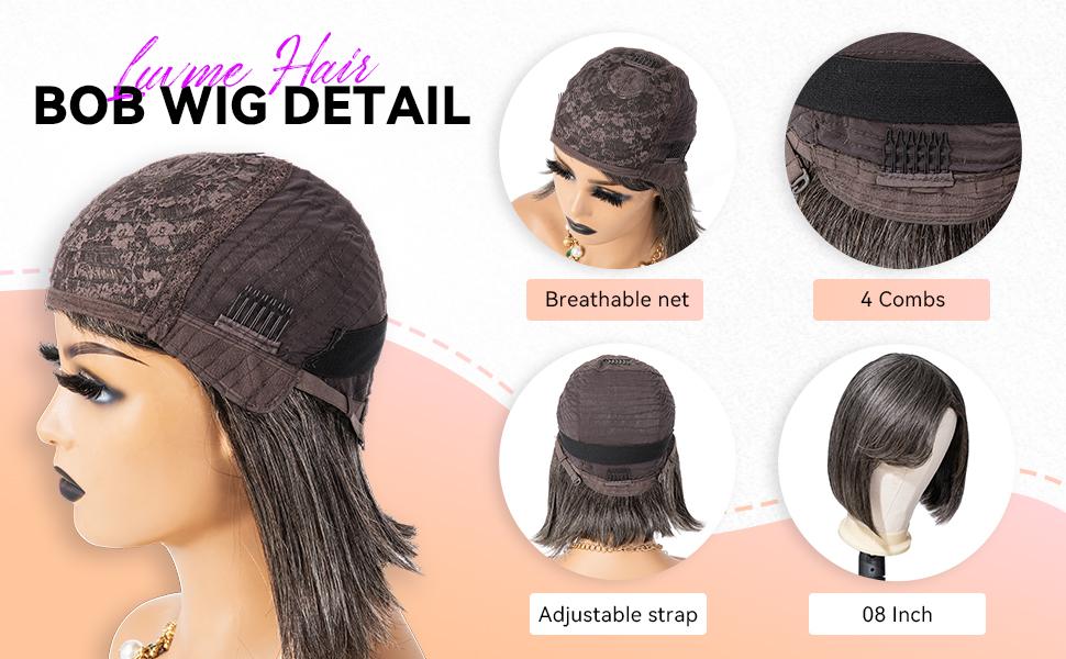 luvme hair bob wig details