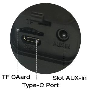 Type-C Charging amp; TF card amp; AUX