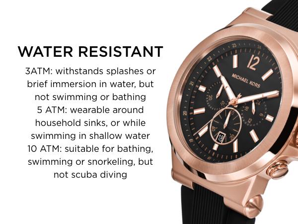 Michael Kors Watches Water Resistant