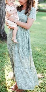 women smocked dress  smocked maternity dress