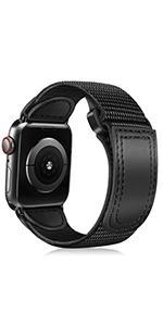 Apple watch 44mm 42mm nylon leather sport band