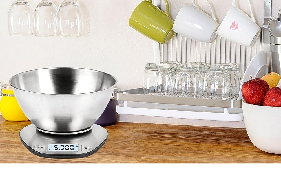 Küchenwaage mit Schüssel/Premium Elektronische Küchenwaage