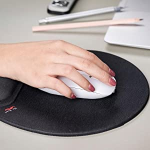 Mouse Pad with Wrist Support, Ergonomic Mouse Pad, Mouse Pad Wrist Suppor