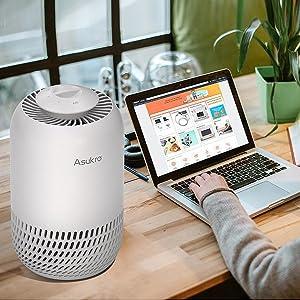 Desktop personal air purifier