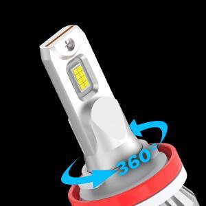 360 adjustable led headlight bulbs high low beam