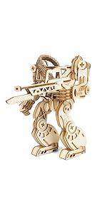 Decorlife 3D Wooden Robot Puzzles B08NT9CY19