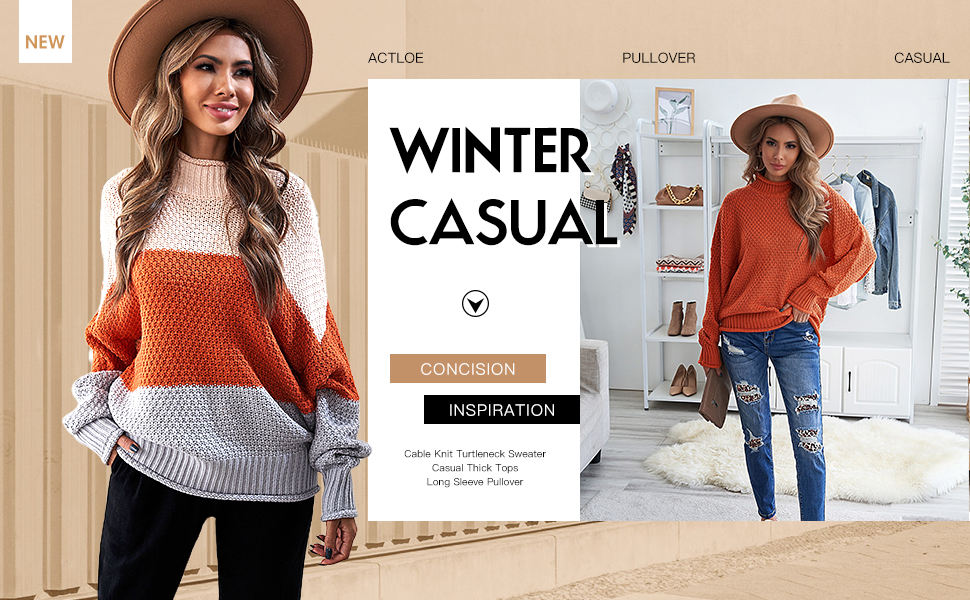 Actloe Sweater for Women Casual