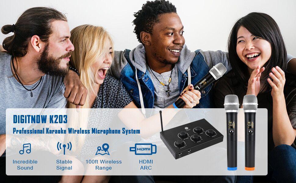 Portable Karaoke Microphone Mixer System