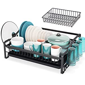 Large Dish Rack Drainer for Kitchen Organizer Storage Space Saver