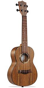 """Ashthorpe ukulele, 23"""" concert size, walnut body, mahogany neck, walnut fret and bridge, 4 string"""