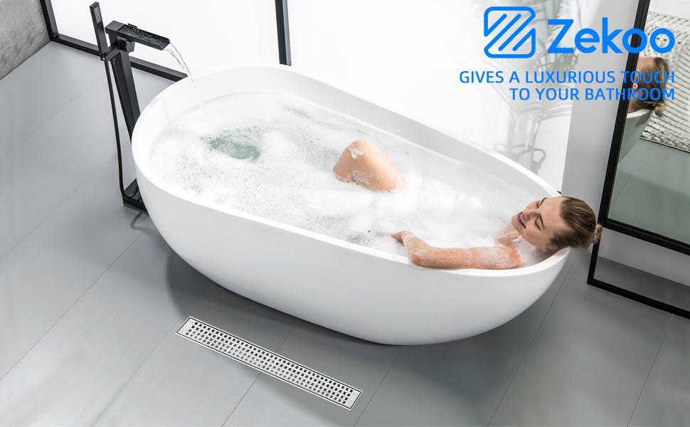 linear shower drain brushed nickel shower drain 304 stainless steel floor drain linear floor drain