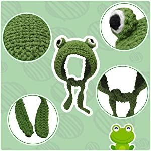The wool knitted hat is soft, breathable and comfortable. And each frog hat is handmade