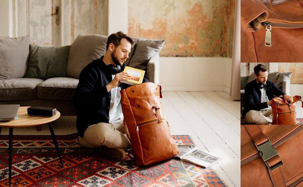 Utrecht XL Vintage Leather Backpack