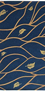 3amp;#39;x5amp;#39; Entryway Rugs Washable Non Slip Rugs Gold Blue Rugs