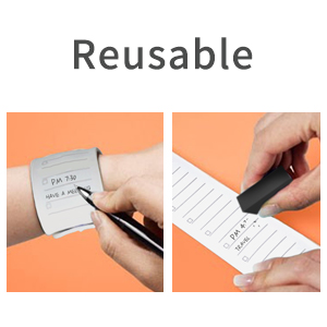 reusable memo wristband