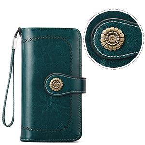green wallet for womens