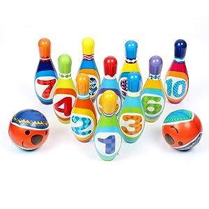 kids bowling set(10 Soft  Foam Pins amp; 2 Balls)