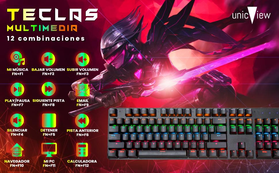 teclado mecámico español, teclado gaming para pc, teclad gaming mecanico pc