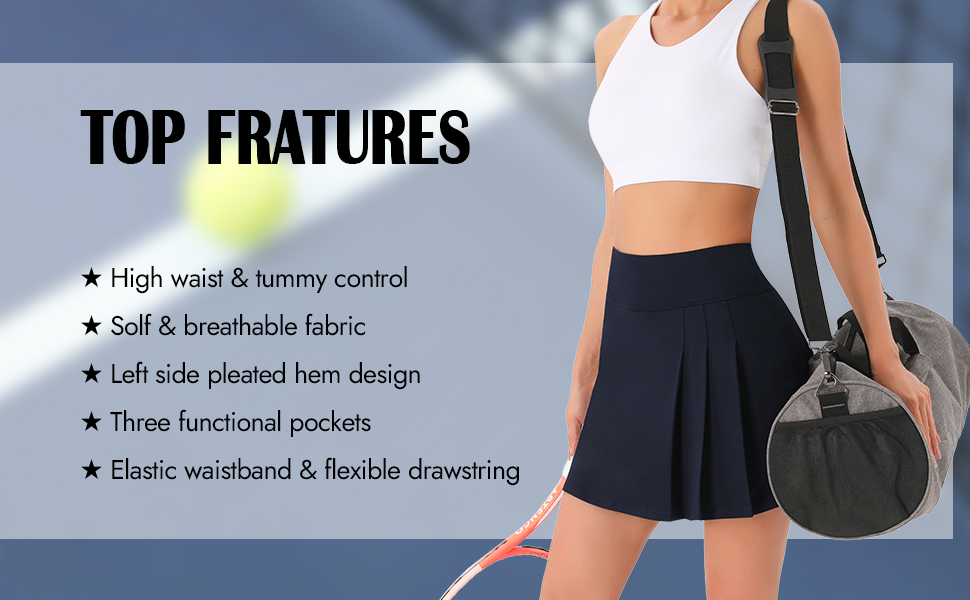 Features high waist soft pleated pockets elastic waistband